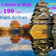 Vietnam Airlines khuyến mãi đi Nhật cho nhóm 2 khách từ 199USD